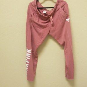 Pink Victoria's secret sweatpants